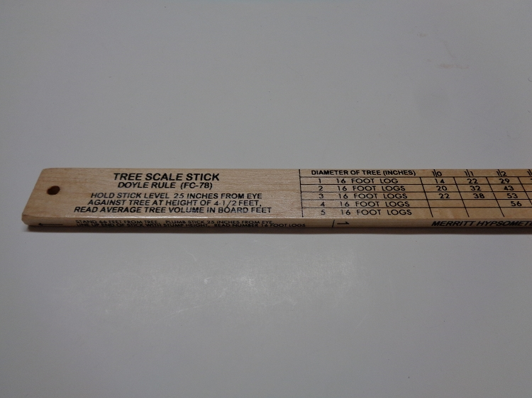 62d Conway Cleveland Tree Scale Stick Doyle Rule