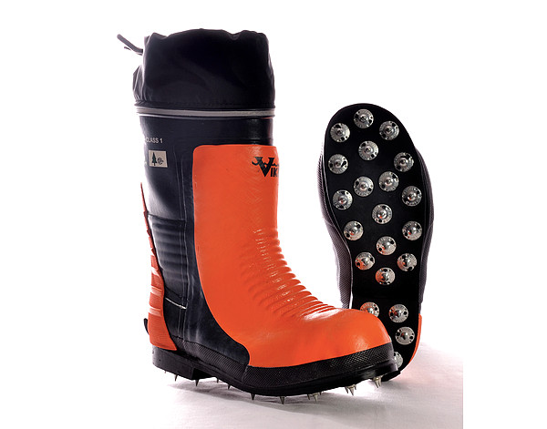 FORESTRY RUBBER KEVLAR SAFETY BOOT W/SPIKES *SIZES AVAILABLE 9-13*
