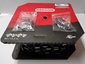 "11H050R - OREGON  SEMI-CHISEL HARVESTER CHAIN 3/4"" PITCH .122 GAUGE 50' ROLL"