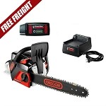 Oregon CS250-E6 40V MAX Cordless Lithium-Ion 14 in. Chainsaw Kit with 2.4 Ah Battery Pack