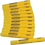 49600 - DIXON YELLOW CRAYONS - 12 PACK