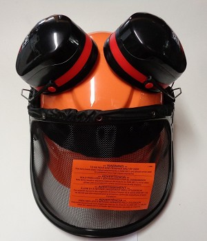 LJPVCB - 3M PELTOR 6-POINT COMPLETE HARD HAT W/FAS-TRAC SUSPENSION W/PELTOR H10P3E MUFFS 27-DECIBELS AND NYLON SCREEN