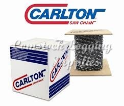 "A2LM100 - CARLTON  3/8"" PITCH .058 GAUGE FULL / CHISEL CHAIN  -100 FOOT ROLL"