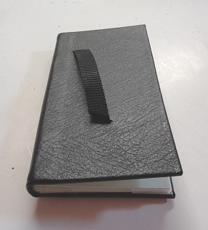 136V - CONWAY GENUINE LEATHER TALLY BOOK W/VELCRO STRAP 6-PAGE