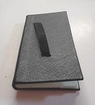 134V - CONWAY GENUINE LEATHER TALLY BOOK W/VELCRO STRAP 4-PAGE