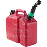 W158  - WEBCO COMBO GAS CAN 1-1/2 GALLON AND 1/2 GALLON BAR OIL W/AUTO SHUT OFF SPOUT