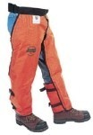 W850KP - LABONVILLE REGULAR TO XL LONG  FULL WRAP CHAINSAW SAFETY CHAPS ORANGE  *PRICES STARTING AT 98.00*