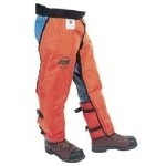 W850KP - LABONVILLE REGULAR TO XL LONG  FULL WRAP CHAINSAW SAFETY CHAPS ORANGE  *PRICES STARTING AT 106.00*